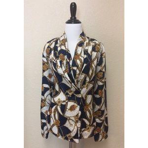 {Anna Kriste} vintage dressy patterned blouse